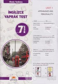 7.Sınıf Okula Yardımcı İngilizce Yaprak Test