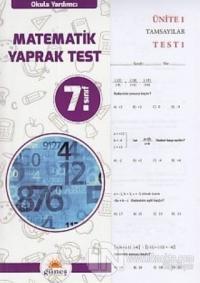 7.Sınıf Okula Yardımcı Matematik Yaprak Test