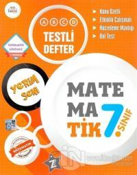 7.Sınıf Yerim Seni Matematik Testli Defter