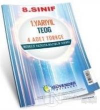 8. Sınıf 1. Yarıyıl TEOG 4 Adet Türkçe - Merkezi Yazılıya Hazırlık Sınavı