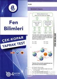 8. Sınıf Fen Bilimleri Çek-Kopar Yaprak Test