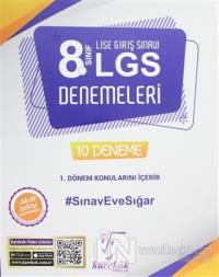 8. Sınıf LGS 1. Dönem Konuları 10 Deneme Kitabı