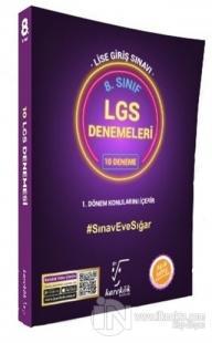 8. Sınıf LGS 1. Dönem Konuları 10 Deneme Sınavı Seti
