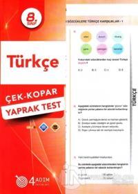 8. Sınıf Türkçe Çek-Kopar Yaprak Test