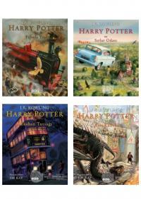 Harry Potter Resimli Özel Baskı Serisi (4 Kitap Takım)