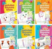 Aktiviteli Boyama Kitapları Seti 2n(6 Kitap Takım) Kolektif