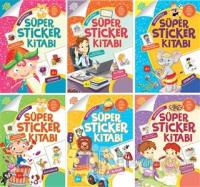 Aktiviteli Süper Sticker Seti (6 Kitap Takım)
