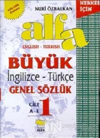 Alfa Büyük İngilizce-Türkçe Genel Sözlük (3 Cilt Takım) 450.000 Kelime (Ciltli)