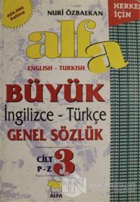Alfa Büyük İngilizce - Türkçe Genel Sözlük Cilt: 3 (Ciltli) %20 indiri