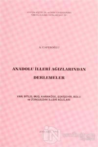 Anadolu İlleri Ağızlarından Derlemeler