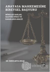 Anayasa Mahkemesinde Bireysel Başvuru