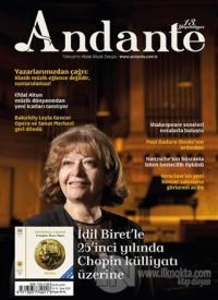 Andante Müzik Dergisi Sayı: 108 Yıl: 13 Ekim 2015