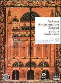 Ankara Araştırmaları Dergisi Cilt:4 Sayı: 1 Kolektif