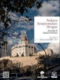 Ankara Araştırmaları Dergisi Sayı: 2 - Cilt1: Sayı:2 Kolektif