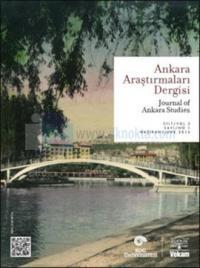 Ankara Araştırmaları Dergisi Sayı: 5 - Cilt:3 Sayı:1 Kolektif