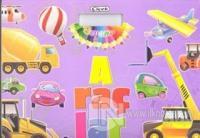 Araçlar / Boyama, Çıkartmalı Kitap