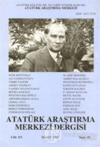Atatürk Araştırma Merkezi Dergisi Cilt: 15 Mart 1999 Sayı: 43