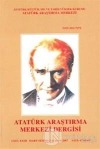 Atatürk Araştırma Merkezi Dergisi: Cilt 23 Mart-Temmuz-Kasım Sayı: 67-68-69