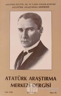 Atatürk Araştırma Merkezi Derisi Cilt 8 Mart 1992 Sayı 23 Kolektif