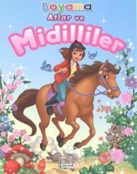 Atlar ve Midilliler - Boyama 1
