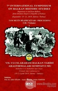 Balkan Tarihi Araştırmaları Cilt: 1