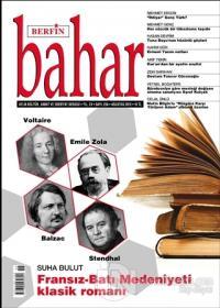 Berfin Bahar Aylık Kültür Sanat ve Edebiyat Dergisi Sayı: 258 Ağustos