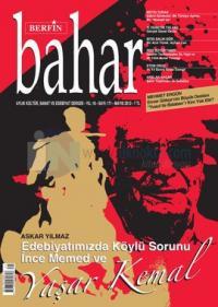 Berfin Bahar Dergisi Sayı: 171 Aylık Kültür, Sanat ve Edebiyat Dergisi