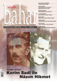 Berfin Bahar Dergisi Sayı: 174 Aylık Kültür, Sanat ve Edebiyat Dergisi