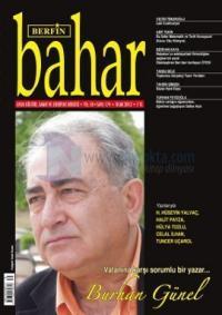 Berfin Bahar Dergisi Sayı: 179 Aylık Kültür Sanat ve Edebiyat Dergisi