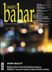 Berfin Bahar Dergisi Sayı: 183 Aylık Kültür Sanat ve Edebiyat Dergisi