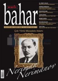 Berfin Bahar Dergisi Sayı: 187 Aylık Kültür Sanat ve Edebiyat Dergisi