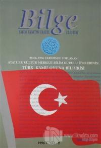 Bilge Dergisi 1996 / Yaz 9 Kolektif