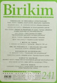Birikim Aylık Edebiyat Kültür Dergisi Sayı: 241