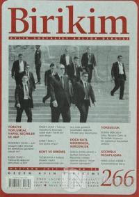 Birikim Aylık Edebiyat Kültür Dergisi Sayı: 266
