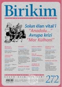 Birikim Aylık Edebiyat Kültür Dergisi Sayı: 272