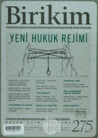 Birikim Aylık Edebiyat Kültür Dergisi Sayı: 275
