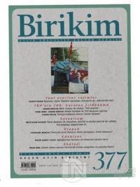 Birikim Aylık Sosyalist Kültür Dergisi Sayı: 377 Eylül 2020