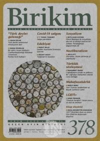 Birikim Aylık Sosyalist Kültür Dergisi Sayı: 378 Ekim 2020
