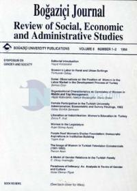 Boğaziçi Journal Review of Social, Economic and Administrative Studies Volume 8 Number 1-2 1994