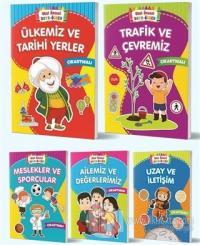 Boya Öğren Çıkartmalı Çocuk Kitapları (5 Kitap Takım)