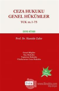Ceza Hukuku Genel Hükümler TCK m. 1-75 Ders Kitabı (Ciltli)