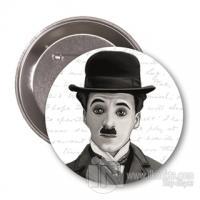 Charlie Chaplin (Karikatür) - Rozet
