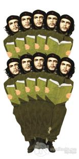 Che Guevara - 10'lu Lazer Kesim Ayraç
