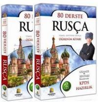 ÇİFT KAYIT 80 Derste Rusça - Temel Seviyede Rusça Öğrenim Kitabı (2 Cilt)