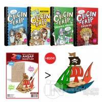 Çılgın Ekip 4 Kitap Takım (Korsan Gemisi 3D Ahşap Maket Hediyeli)