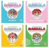 Çocuklar İçin Eğlendirici Mandala (4 Kitap)