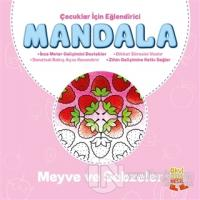 Çocuklar İçin Eğlendirici Mandala: Meyve ve Sebzeler