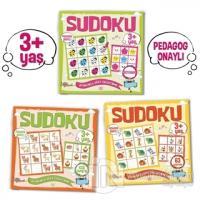 Çocuklar İçin Sudoku Seti (3+ Yaş) (3 Kitap Takım) Kolektif