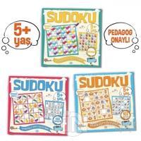 Çocuklar İçin Sudoku Seti (5+ Yaş) (3 Kitap Takım) Kolektif