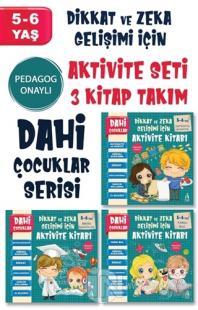 Dahi Çocuklar Aktivite Seti 5-6 Yaş (3 Kitap Takım) Kolektif